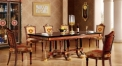 luxury Italy style wood carving Long dining table and chair