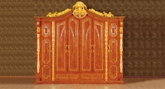 luxury Italy style wood carving Six- door wardrobe