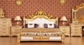 luxury Italy style wood carving bed