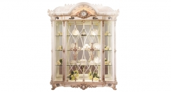 luxury European style wood carving 2 Door Showcase, cabinet