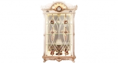luxury European style woodcarving 2 Door Showcase, cabinet