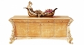 luxury European style woodcarving TV stand/ Cabinet, rose decorated