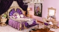 luxury European style woodcarving purple bedroom set, dresser set
