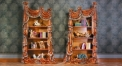 luxury European style woodcarving Bookcase