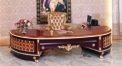 luxury European style woodcarving Office Desk, Offce Chair,  Small Table