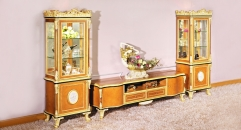 luxury European style woodcarving 4 Doors TV stand/ Cabinet, Showcase