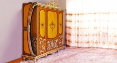 luxury European style wood carving Wardrobe