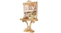 luxury European style woodcarving Console  and mirror