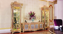 luxury European style woodcarving Door TV stand/ Cabinet, Showcase