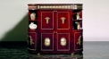 luxury European style woodcarving curio ark, antique cabinet, romantic theme