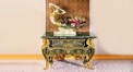 luxury European style woodcarving curio ark, antique cabinet