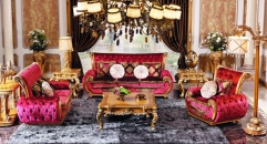 luxury European style woodcarving sofa set, Square Table, End Table,Back table, Floor lamp