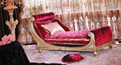 luxury European style woodcarving Couch, Chaise Lounge, royal chair