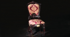 luxury European style solid wood, hand-carved armless dining chair