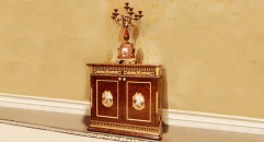 luxury European style woodcarving two-door sideboard