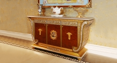 luxury European style woodcarving three-door sideboard,  three-door TV stand/ cabinet, dining car