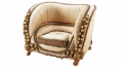 classical Baroque style wood carving sofa, armchair, single chair