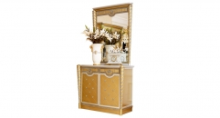 luxury new classical style wood carving small buffet and mirror