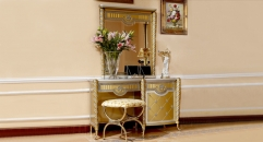 luxury new classical style wood carving small dresser and mirror