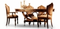 antique French style wood carving Dining table