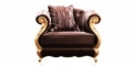 antique French style wood carving armchair, 1 seater sofa