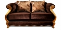 antique French style wood carving loveseat