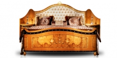 antique French style wood carving Bed