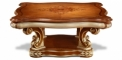 antique French style square wood carving Coffee table, small size