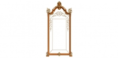antique French style wood carving full length mirror