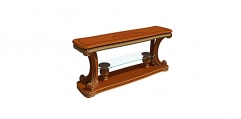 antique French style wood carving console table, sofa table
