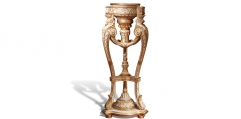 antique French style wood carving flower stand