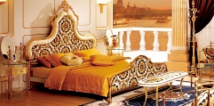 luxury classical Gold 24K style bedroom set