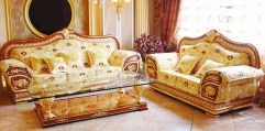 luxury classical Gold 24K style sofa set