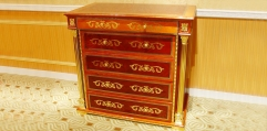 luxury classical Gold 24K style chest of drawers, 5 drawers