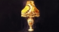luxury decoration classical Gold 24K style trophy shape table lamp