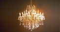 luxury decoration classical Gold 24K style chandelier, candle shape lamp