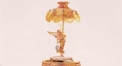 luxury decoration antique Gold 24K style angel table lamp