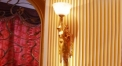 luxury decoration classical Gold 24K style female lady decorated wall lamp