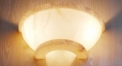 luxury decoration classical Gold 24K style semicircle wall lamp