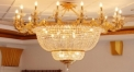 luxury decoration classical Gold 24K style chandelier, candle shape lamp surrounded