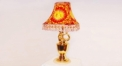 red luxury decoration classical Gold 24K style table lamp