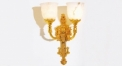 luxury decoration classical Gold 24K style wall lamp