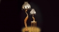 luxury decoration classical Gold 24K style peacock lamp (table/ floor lamp)