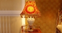 luxury decoration classical red Gold 24K style table lamp