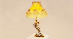 luxury decoration classical Gold 24K style female lady table lamp