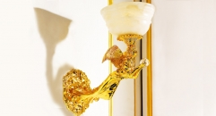 luxury decoration classical Gold 24K style goddess wall lamp, corridor light