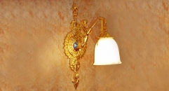 luxury decoration classical Gold 24K style mermaid wall lamp, Corridor light