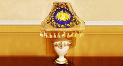 luxury decoration classical Gold 24K style table lamp