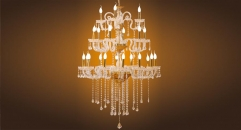 luxury decoration classical Gold 24K style candle chandelier
