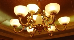 luxury decoration classical Gold 24K style chandelier